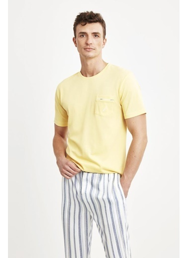 Nautica M134 Pijama Takım Sarı